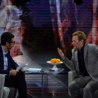 Foto Nicoloro G.   18/10/2014   Milano    Trasmissione televisiva su Rai 3 ' Che tempo che fa '. nella foto Fabio Fazio e l' artista funambolo Philippe Petit.