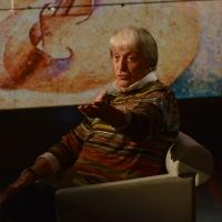 Foto Nicoloro G.   18/10/2015    Milano   Trasmissione televisiva su Rai 3 ' Che tempo che fa '. nella foto il critico d' arte Flavio Caroli.