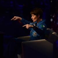 Foto Nicoloro G.   18/10/2015    Milano   Trasmissione televisiva su Rai 3 ' Che tempo che fa '. nella foto l' astronauta Samantha Cristoforetti.