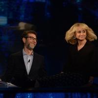 Foto Nicoloro G.   18/10/2015    Milano   Trasmissione televisiva su Rai 3 ' Che tempo che fa '. nella foto Fabio Fazio e Luciana Littizzetto.