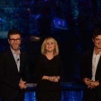 Foto Nicoloro G.   18/10/2015    Milano   Trasmissione televisiva su Rai 3 ' Che tempo che fa '. nella foto da sinistra Fabio Fazio, Luciana Littizzetto e Riccardo Scamarcio.