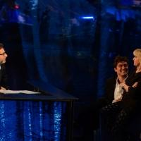 Foto Nicoloro G.   18/10/2015    Milano   Trasmissione televisiva su Rai 3 ' Che tempo che fa '. nella foto da sinistra Fabio Fazio e Riccardo Scamarcio con Luciana Littizzetto.