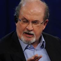 """Foto Nicoloro G. 19/11/2012 Milano Trasmissione televisiva su Rai3 """" Che tempo che fa """" condotta da Fabio Fazio. nella foto Salman Rushdie"""