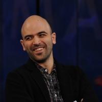 """Foto Nicoloro G. 19/11/2012 Milano Trasmissione televisiva su Rai3 """" Che tempo che fa """" condotta da Fabio Fazio. nella foto Roberto Saviano"""