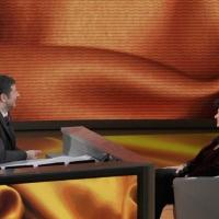 """Foto Nicoloro G. 19/03/2011 Milano Trasmissione televisiva su Rai3 """" Che tempo che fa """" condotta da Fabio Fazio. nella foto Fabio Fazio – Ilaria Borletti Buitoni"""