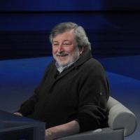 """Foto Nicoloro G. 19/03/2011 Milano Trasmissione televisiva su Rai3 """" Che tempo che fa """" condotta da Fabio Fazio. nella foto Francesco Guccini"""