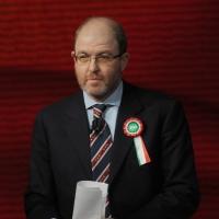 """Foto Nicoloro G. 19/03/2011 Milano Trasmissione televisiva su Rai3 """" Che tempo che fa """" condotta da Fabio Fazio. nella foto Massimo Gramellini"""