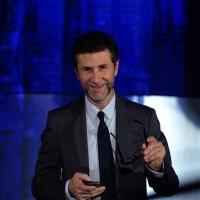 """Foto Nicoloro G.   19/10/2014   Milano   Trasmissione televisiva su Rai 3 """" Che tempo che fa"""". nella foto Fabio Fazio."""