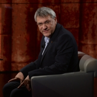 """Foto Nicoloro G.   19/10/2014   Milano   Trasmissione televisiva su Rai 3 """" Che tempo che fa"""". nella foto il segretario FIOM Maurizio Landini."""