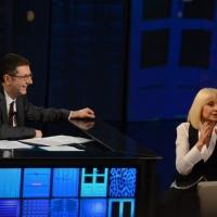 """Foto Nicoloro G. 20/04/2013 Milano Trasmissione televisiva su Rai3 """" Che tempo che fa """" condotta da Fabio Fazio. nella foto Fabio Fazio – Raffaella Carrà"""