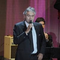 """Foto Nicoloro G. 20/11/2011 Milano Trasmissione televisiva su Rai3″ Che tempo che fa """" condotta da Fabio Fazio. nella foto Andrea Bocelli"""