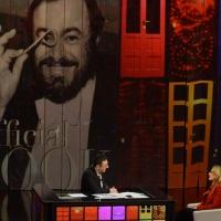 """Foto Nicoloro G. 21/04/2013 Milano Trasmissione televisiva su Rai3 """" Che tempo che fa """" condotta da Fabio Fazio. nella foto Fabio Fazio – Nicoletta Mantovani"""