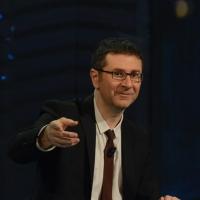 """Foto Nicoloro G. 21/04/2013 Milano Trasmissione televisiva su Rai3 """" Che tempo che fa """" condotta da Fabio Fazio. nella foto Fabio Fazio"""