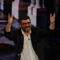"""Foto Nicoloro G.   21/02/2015   Milano    Trasmissione televisiva su Rai 3 """" Che fuori tempo che f a """". nella foto l' attore Francesco Pannofino."""