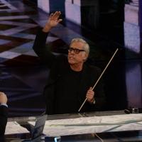 """Foto Nicoloro G.   21/02/2015   Milano    Trasmissione televisiva su Rai 3 """" Che fuori tempo che f a """". nella foto l' attore Teo Teocoli."""