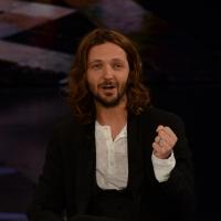 """Foto Nicoloro G.   21/02/2015   Milano    Trasmissione televisiva su Rai 3 """" Che fuori tempo che f a """". nella foto l' attore Silvio Muccino."""