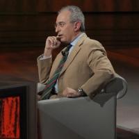 """Foto Nicoloro G. 22/01/2011 Milano Trasmissione televisiva su Rai3 """" Che tempo che fa """" condotta da Fabio Fazio. nella foto Gad Lerner"""