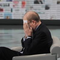 """Foto Nicoloro G. 22/01/2011 Milano Trasmissione televisiva su Rai3 """" Che tempo che fa """" condotta da Fabio Fazio. nella foto Massimo Gramellini"""