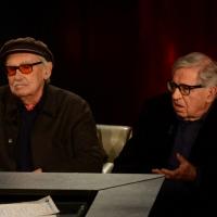 """Foto Nicoloro G.   22/02/2015   Milano   Trasmissione televisiva su Rai 3 """" Che tempo che fa"""". nella foto da sinistra i fratelli registi Vittorio e Paolo Taviani."""