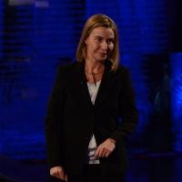 """Foto Nicoloro G.   22/02/2015   Milano   Trasmissione televisiva su Rai 3 """" Che tempo che fa"""". nella foto Federica Mogherini, rappresentante UE per gli affari esteri."""