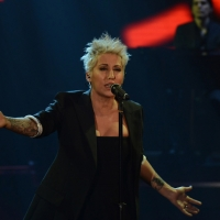 """Foto Nicoloro G.   22/02/2015   Milano   Trasmissione televisiva su Rai 3 """" Che tempo che fa"""". nella foto la cantante Malika Ayane."""