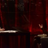 """Foto Nicoloro G.   22/02/2015   Milano   Trasmissione televisiva su Rai 3 """" Che tempo che fa"""". nella foto Fabio Fazio con l' attrice Sabrina Ferilli."""