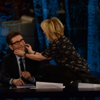 """Foto Nicoloro G.   22/02/2015   Milano   Trasmissione televisiva su Rai 3 """" Che tempo che fa"""". nella foto Fabio Fazio e Luciana Littizzetto."""