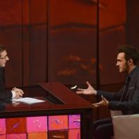 """Foto Nicoloro G. 23/02/2013 Milano Trasmissione televisiva su Rai3 """" Che tempo che fa """" condotta da Fabio Fazio. nella foto Fabio Fazio – Marco Mengoni"""