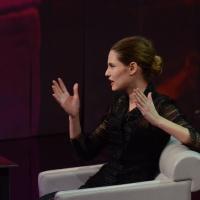 """Foto Nicoloro G. 24/02/2013 Milano Trasmissione televisiva su Rai3 """" Che tempo che fa """" condotta da Fabio Fazio. nella foto Bianca Balti"""