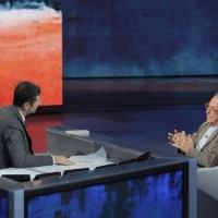 """Foto Nicoloro G. 24/09/2011 Milano Trasmissione televisiva su Rai3 """" Che tempo che fa """" condotta da Fabio Fazio. nella foto Fabio Fazio – Gherardo Colombo"""