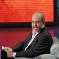 """Foto Nicoloro G. 24/09/2011 Milano Trasmissione televisiva su Rai3 """" Che tempo che fa """" condotta da Fabio Fazio. nella foto Massimo Gramellini"""