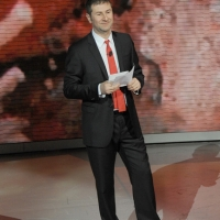 """Foto Nicoloro G. 24/12/2011 Milano Trasmissione televisiva su Rai3 """" Che tempo che fa """" condotta da Fabio Fazio. nella foto Fabio Fazio"""