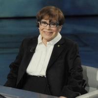"""Foto Nicoloro G. 24/12/2011 Milano Trasmissione televisiva su Rai3 """" Che tempo che fa """" condotta da Fabio Fazio. nella foto Franca Valeri"""