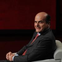 """Foto Nicoloro G. 25/02/2012 Milano Trasmissione televisiva su Rai3 """" Che tempo che fa """" condotta da Fabio Fazio. nella foto Pier Luigi Bersani"""