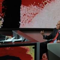 """Foto Nicoloro G. 25/02/2012 Milano Trasmissione televisiva su Rai3 """" Che tempo che fa """" condotta da Fabio Fazio. nella foto Fabio Fazio – Pier Luigi Bersani"""
