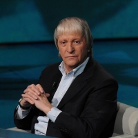 """Foto Nicoloro G. 26/02/2012 Milano Trasmissione televisiva su Rai3 """" Che tempo che fa """" condotta da Fabio Fazio. nella foto Flavio Caroli"""