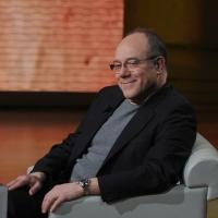 """Foto Nicoloro G. 26/02/2012 Milano Trasmissione televisiva su Rai3 """" Che tempo che fa """" condotta da Fabio Fazio. nella foto Carlo Verdone"""