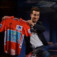 Foto Nicoloro G.   26/09/2015   Milano   Prima serata della nuova serie di trasmissioni su Rai 3 ' Che fuori tempo che fa '. nella foto il campione di ciclismo Fabio Aru, vincitore della Vuelta.