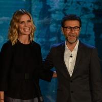 Foto Nicoloro G.  27/09/2015   Milano  Trasmissione televisiva su Rai 3 ' Che tempo che fa '. nella foto Fabio Fazio e Filippa Lagerback.