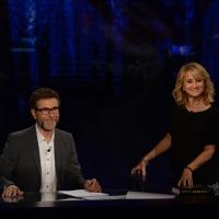 Foto Nicoloro G.  27/09/2015   Milano  Trasmissione televisiva su Rai 3 ' Che tempo che fa '. nella foto Fabio Fazio e Luciana Littizzetto.