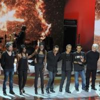 """Foto Nicoloro G. 26/11/2011 Milano Trasmissione televisiva su Rai3 """" Che tempo che fa """" condotta da Fabio Fazio. nella foto Antonello Venditti e la sua band"""