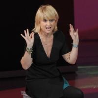 """Foto Nicoloro G. 26/11/2011 Milano Trasmissione televisiva su Rai3 """" Che tempo che fa """" condotta da Fabio Fazio. nella foto Luciana Littizzetto"""