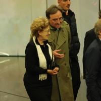 """Foto Nicoloro G. 29/10/2012 Milano Trasmissione televisiva su Rai3 """" Che tempo che fa """" condotta da Fabio Fazio. nella foto Anna Maria Tarantola"""