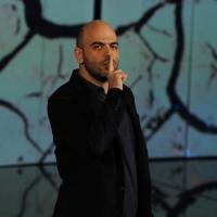 """Foto Nicoloro G. 29/10/2012 Milano Trasmissione televisiva su Rai3 """" Che tempo che fa """" condotta da Fabio Fazio. nella foto Roberto Saviano"""