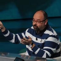 """Foto Nicoloro G. 03/03/2012 Milano Trasmissione televisiva su Rai3 """" Che tempo che fa """" condotta da Fabio Fazio. nella foto Carlo Luiz Zafon"""