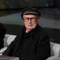 """Foto Nicoloro G. 03/03/2012 Milano Trasmissione televisiva su Rai3 """" Che tempo che fa """" condotta da Fabio Fazio. nella foto Vittorio Taviani"""