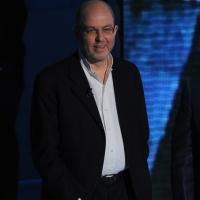 """Foto Nicoloro G. 04/03/2012 Milano Trasmissione televisiva su Rai3 """" Che tempo che fa """" condotta da Fabio Fazio. nella foto Massimo Gramellini"""