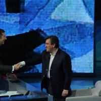 """Foto Nicoloro G. 04/03/2012 Milano Trasmissione televisiva su Rai3 """" Che tempo che fa """" condotta da Fabio Fazio. nella foto Fabio Fazio – Anthony Pappano"""