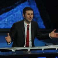 """Foto Nicoloro G. 04/03/2012 Milano Trasmissione televisiva su Rai3 """" Che tempo che fa """" condotta da Fabio Fazio. nella foto Fabio Fazio"""