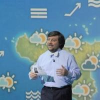 """Foto Nicoloro G. 10/12/2011 Milano Trasmissione televisiva su Rai3 """" Che tempo che fa """" condotta da Fabio Fazio. nella foto Luca Mercalli"""